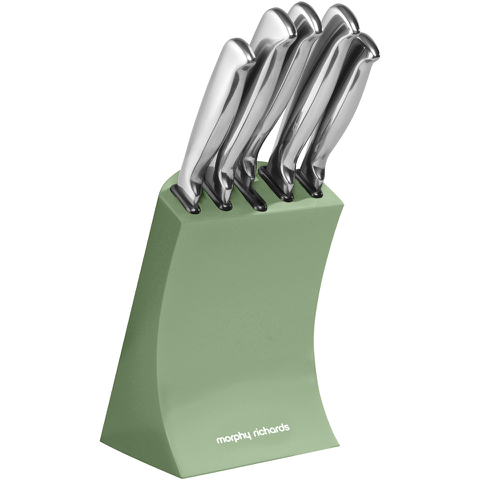Morphy Richards 974802 5 Piece Knife Block Sage Green
