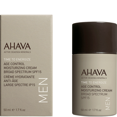 AHAVA Men's Age Control Moisturizing Cream Broad Spectrum SPF 15