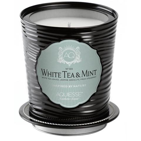 Aquiesse Tin Candle - White Tea and Mint