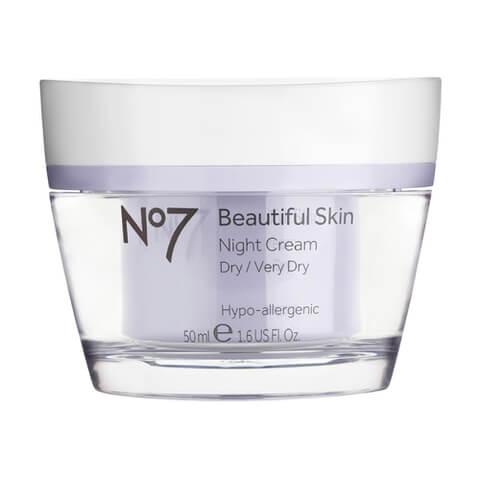 Boots No.7 Beautiful Skin Night Cream - Dry to Very Dry