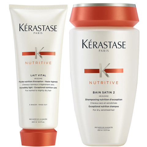 Kérastase Nutritive Bain Satin 2 (250ml) and Nutritive Lait Vital (200ml)