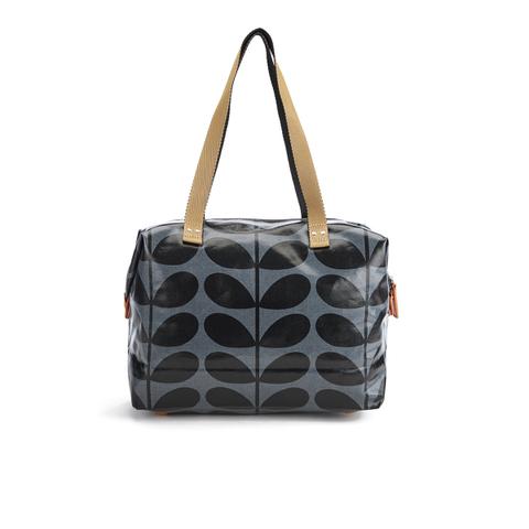 Orla Kiely Women's Linear Stem Print Laminated Zip Shopper Bag - Midnight