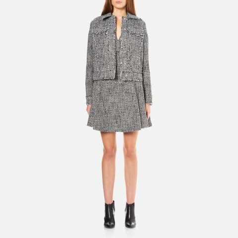 MICHAEL MICHAEL KORS Women's Fray Tweed Jacket - Black