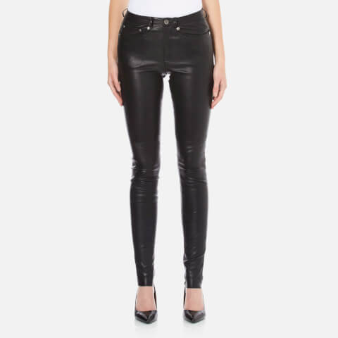 Gestuz Women's Alou Leather Pants - Black