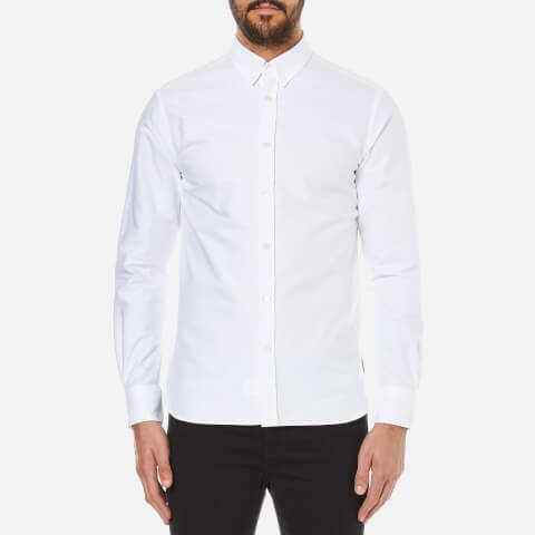 Maison Kitsuné Men's Classic Oxford Embroidery Shirt - White