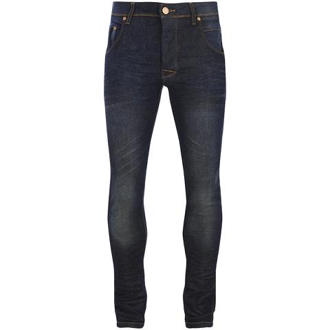 Brave Soul Men's Tom Slim Fit Jeans - Dark Blue Wash