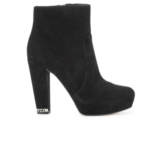 MICHAEL MICHAEL KORS Women's Sabrina Suede Heeled Ankle Boots - Black