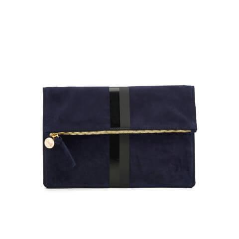 Clare V. Women's Margot Foldover Supreme Clutch Bag - Blue
