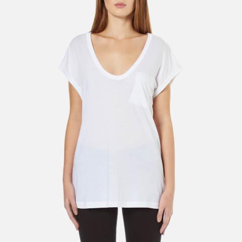 Helmut Lang Women's Scoop Neck Muscle T-Shirt - White