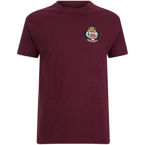 Rum Knuckles Men's Tiger T-Shirt - Burgundy