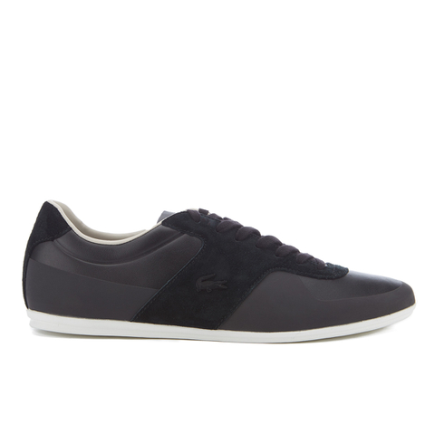 Lacoste Men's Turnier 316 1 Leather/Suede Trainers - Black