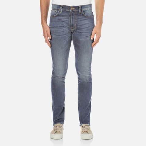 Nudie Jeans Men's Lean Dean Straight/Slim Fit Jeans - Indigo Throb