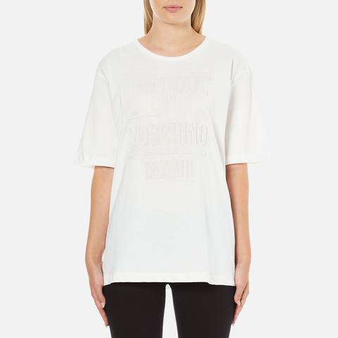 Love Moschino Women's Logo Oversized T-Shirt - White