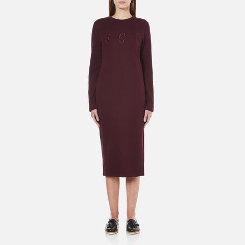 McQ Alexander McQueen Women's Side Slit Sweater Dress - Port