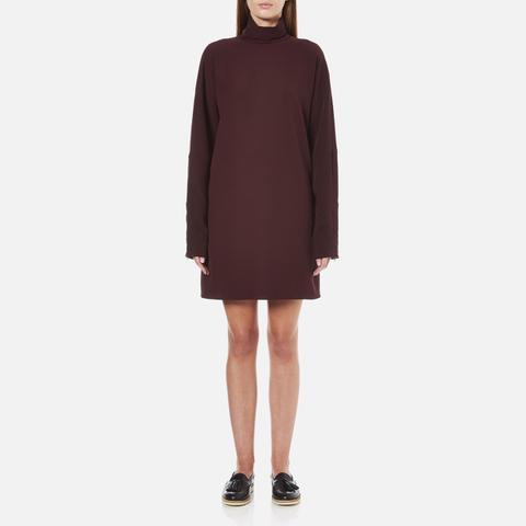 McQ Alexander McQueen Women's Turtleneck Dress - Port