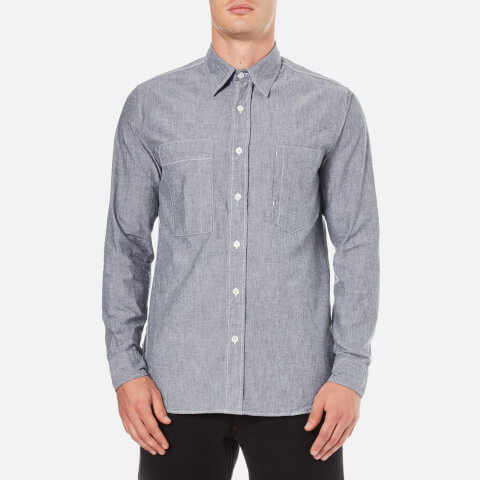 Nigel Cabourn Men's Denim Chambray Workers Shirt - Indigo