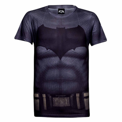 DC Comics Mens Batman Muscle T-Shirt - Grijs