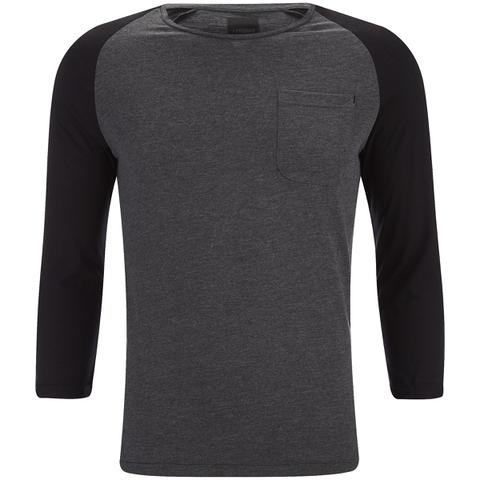 Produkt Men's 3/4 Sleeve Raglan Top - Dark Grey Melange