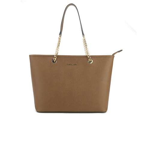 MICHAEL MICHAEL KORS Women's Jet Set Travel Chain TZ Tote Bag - Luggage