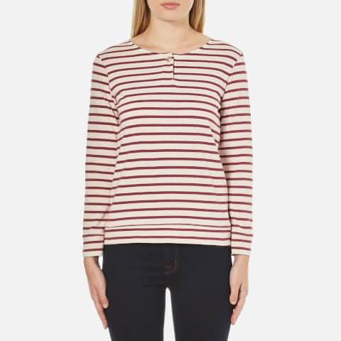 A.P.C. Women's Veronica Stripe Long Sleeve Top - Red