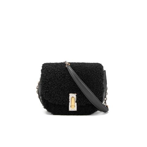 Marc Jacobs Women's The Jane West End Shearling Saddle Bag - Black