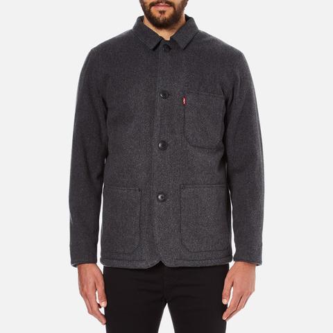 Levi's Men's Wool Engineers Coat - Black Heather