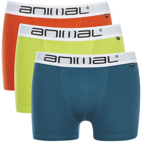 Animal Men's Block 3 Pack Boxers - Multi