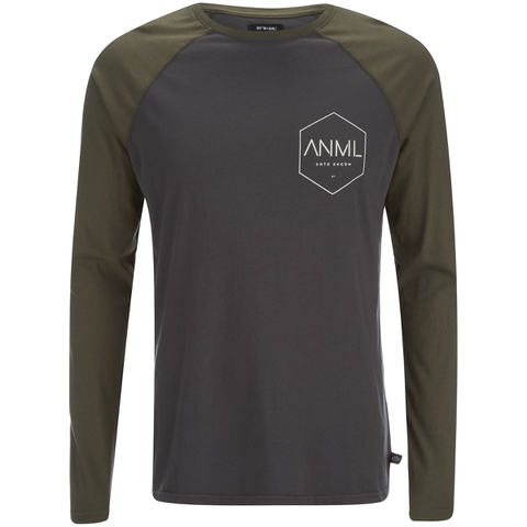 Animal Men's Mono Raglan Long Sleeve Top - Asphalt Grey