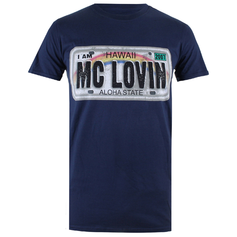 Superbad Men's Reg Plate T-Shirt - Navy