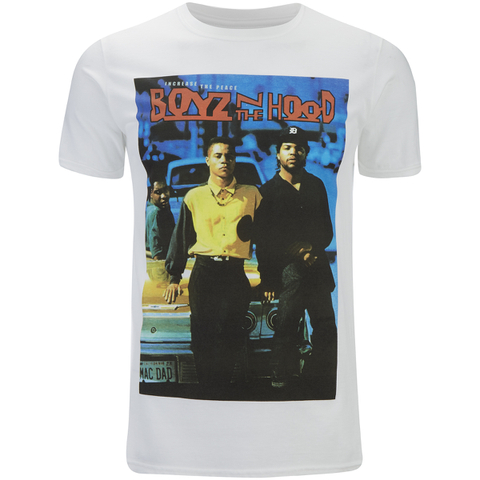 Boys In The Hood Mens Poster T-Shirt - Wit