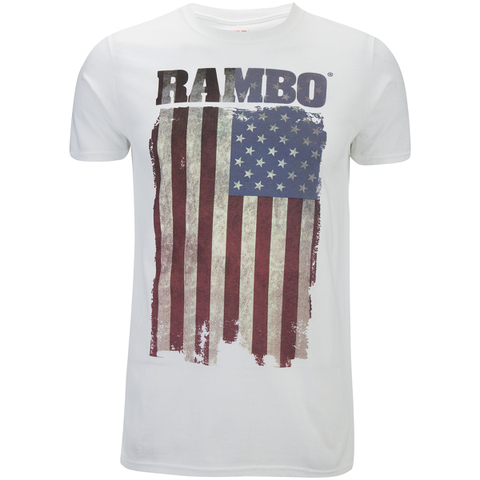 Rambo Men's Flag T-Shirt - White