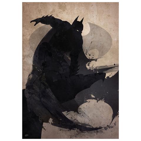 Batman Inspired Art Print - 16.5 x 11.7