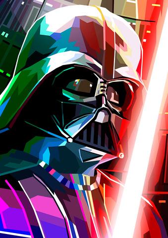 Star Wars Darth Vader Inspired Illustrative Fine Art Print - 16.5 x 11.7