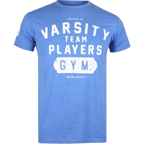 Varsity Team Players Men's Gym T-Shirt - Heather Royal