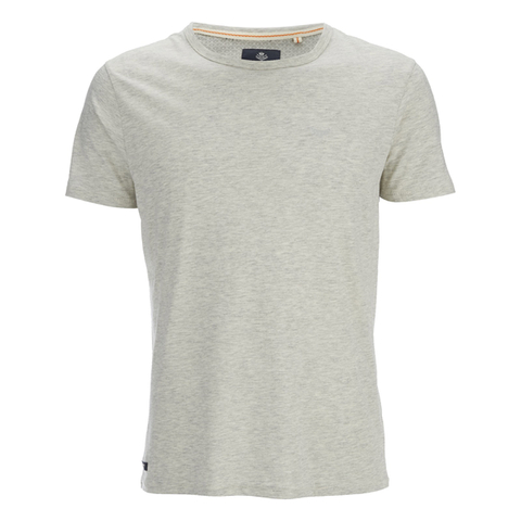 Threadbare Men's William Plain Crew Neck T-Shirt - Ecru Marl