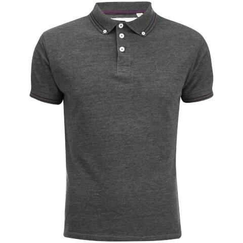 Soul Star Men's Ralling Polo Shirt - Charcoal Melange
