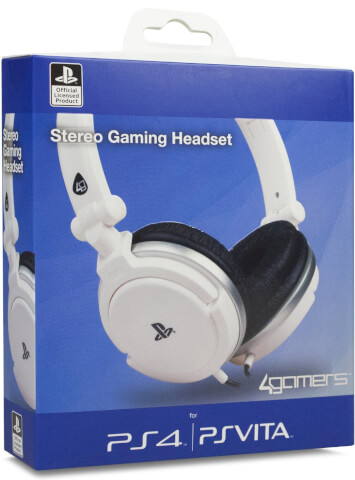 4Gamers Officially Licensed Stereo Gaming Headset - White (PS4/PSVita)