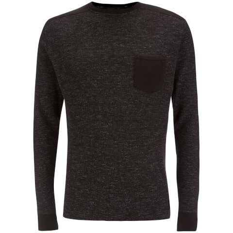 Brave Soul Men's Ween Interest Patch and Pocket Sweatshirt - Black