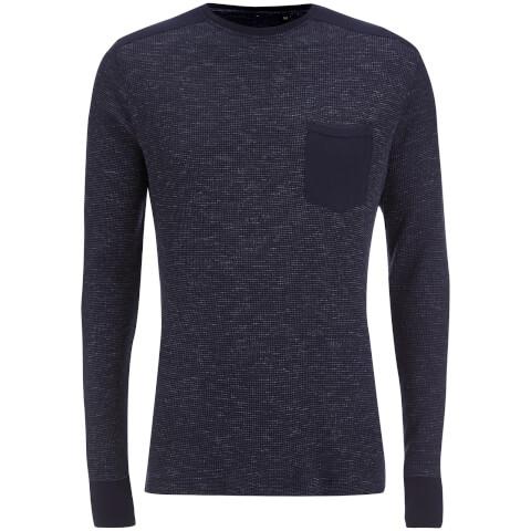 Brave Soul Men's Ween Interest Patch and Pocket Sweatshirt - Navy