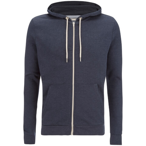 Brave Soul Men's Adrian Zip Through Hoody - Dark Navy Marl