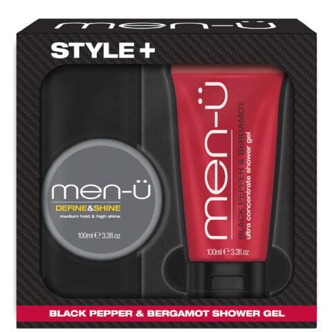 men-u Style+ Black Pepper & Bergamot Shower Gel 100ml - Define & Shine