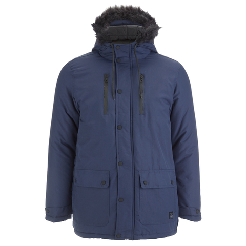 Tokyo Laundry Men's Carmine Hooded Parka Jacket - Midnight Blue