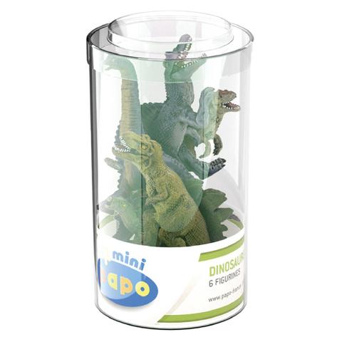 Papo Mini Plus Dinosaurs Set 1 Tube (6 Pieces)