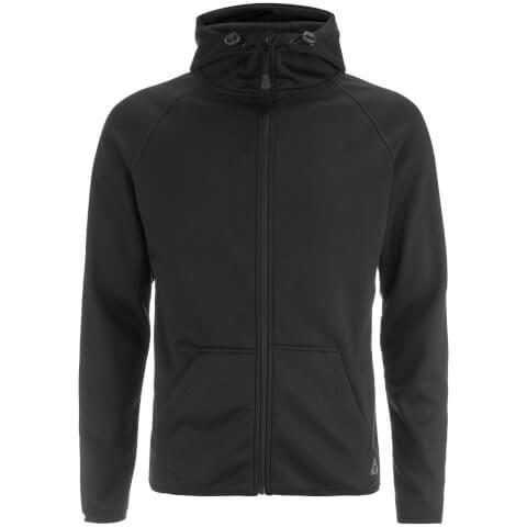 Dissident Men's Cowley Zip Through Bonded Fleece Hoody - Black
