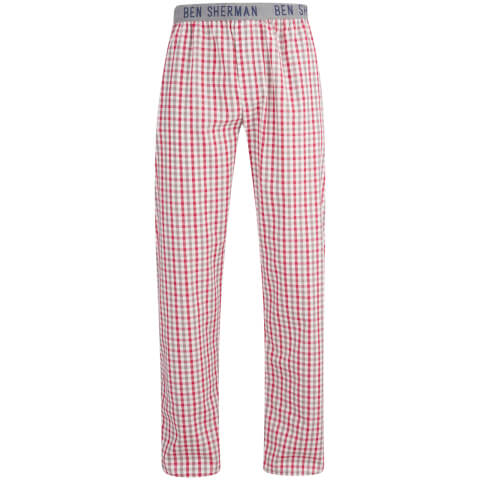Ben Sherman Men's Check Ashley Lounge Pants - Red/White