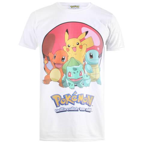Pokemon Men's Groupball T-Shirt - White