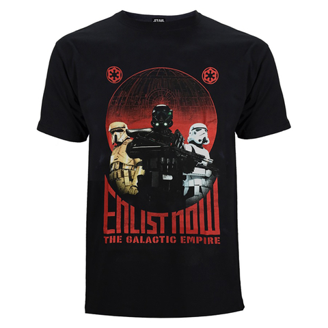 Star Wars: Rogue One Men's Trooper T-Shirt - Black