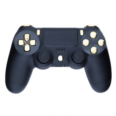 Playstation 4 Custom Controller - Matte Black & Chrome Gold
