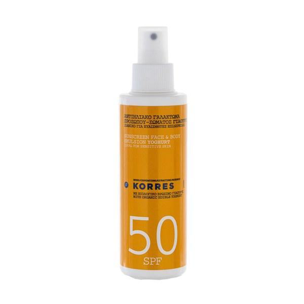 Korres Yoghurt Sunscreen Face and Body Emulsion SPF50 (150ml)