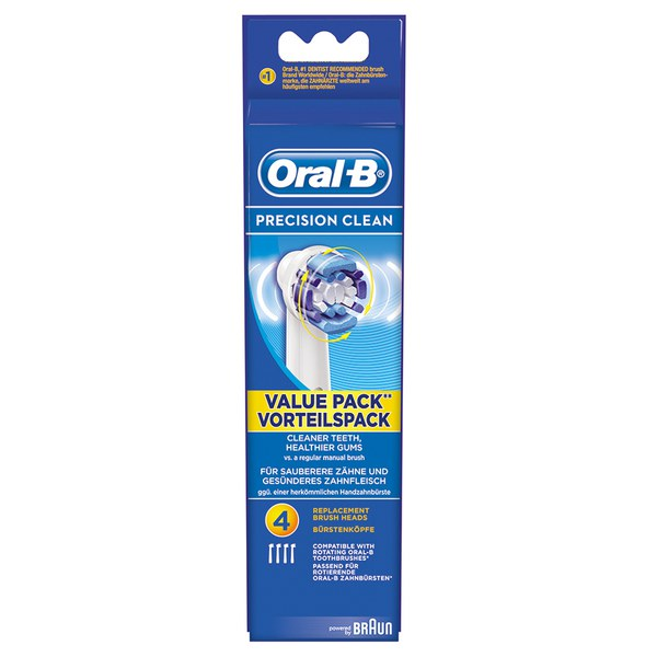 Oral-B Precision Clean Toothbrush Head Refills (x4)